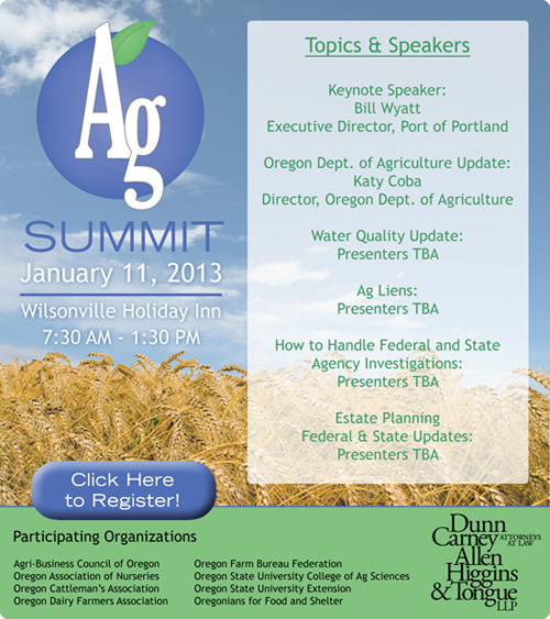 January 11, 2013 Ag Summit.